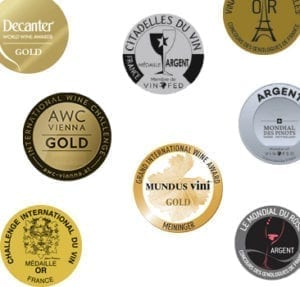 Awarded wines